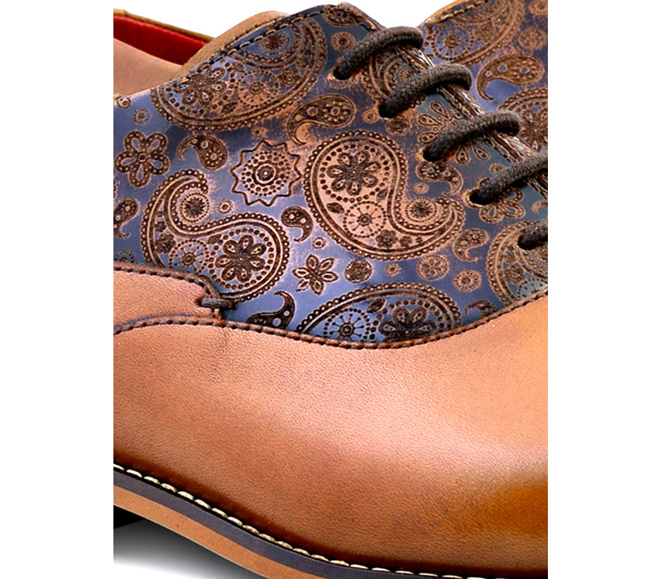 Paisley Lace-up - Tan