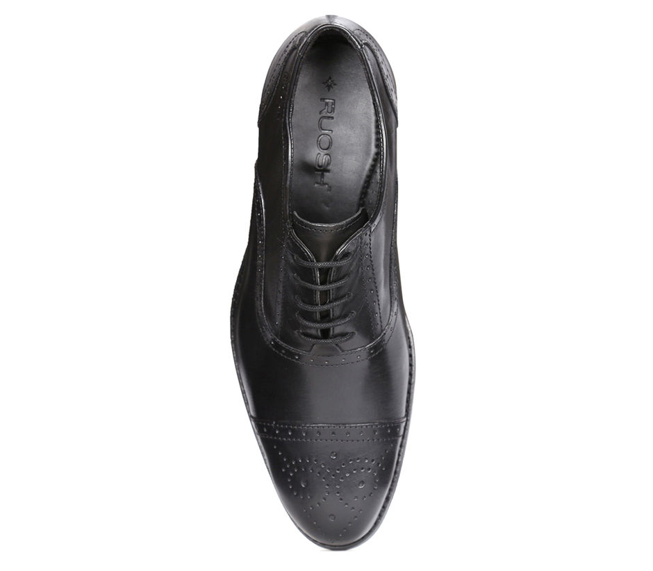 Classic Formal shoes with Brogues - Black