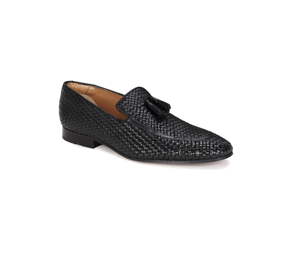Occasion hand braided Slip-on - Black