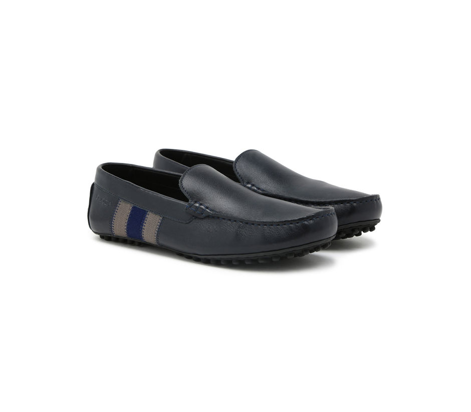 Driving shoes with Stripes- Navy