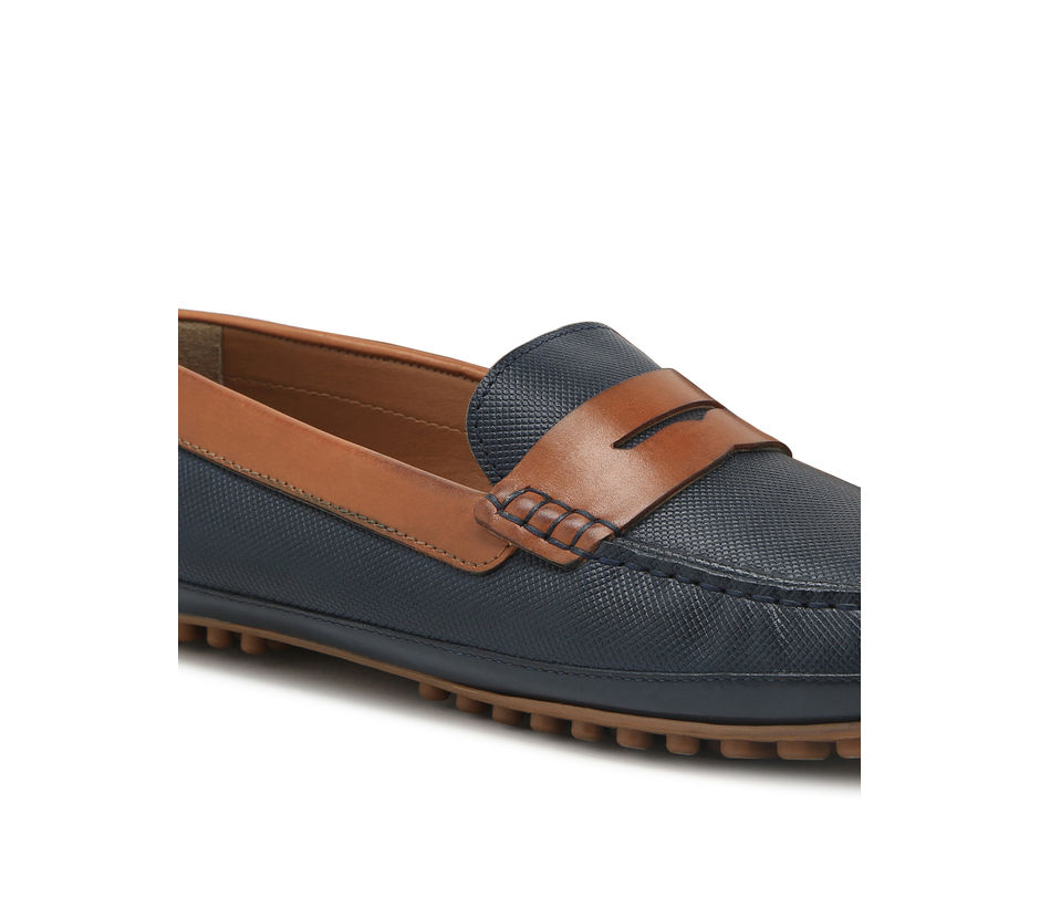 Driving shoes - Navy & Tan