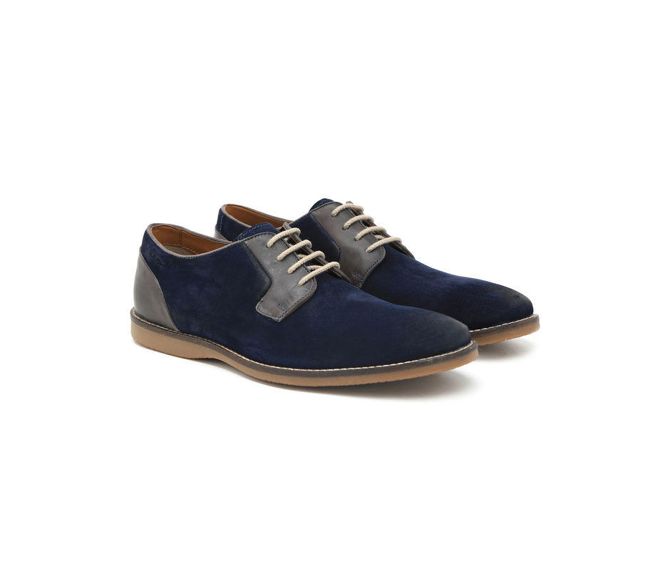 Suede Casual Boots - Navy