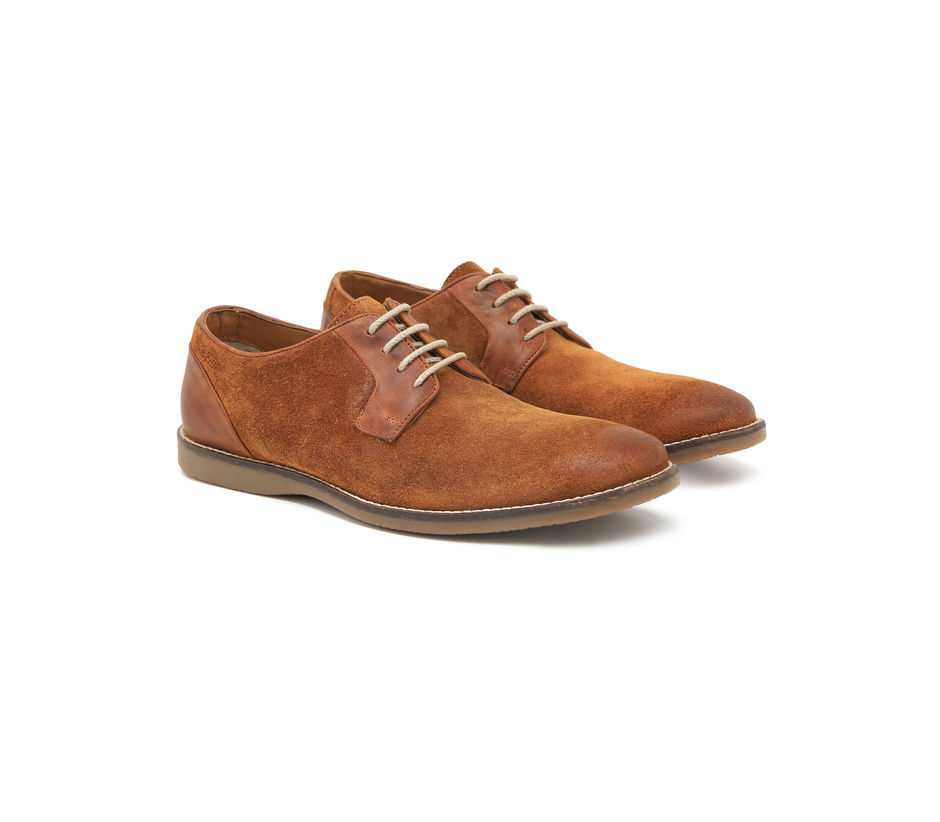 Suede Casual Boots - Tan